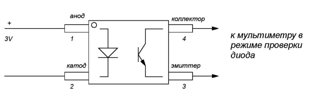 Как проверить оптрон мультиметром