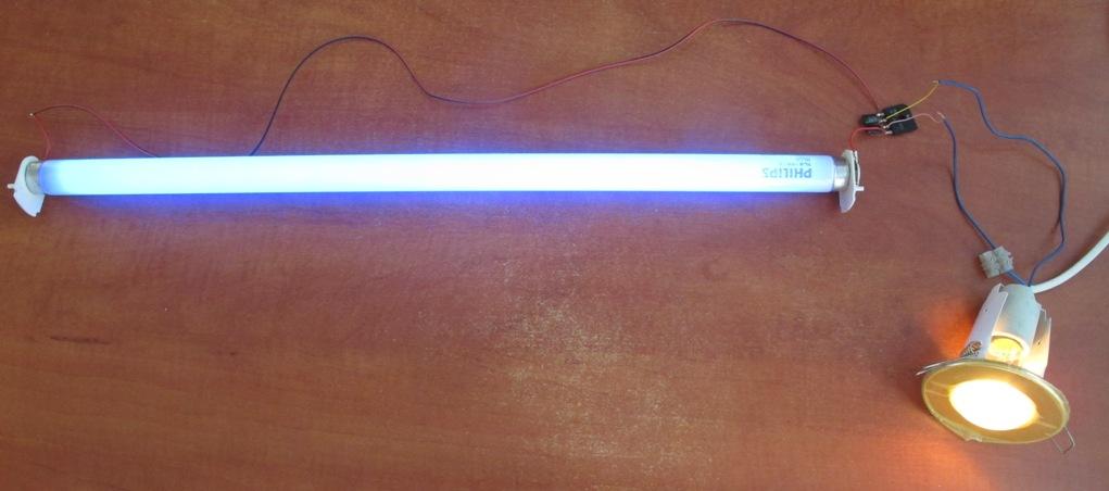 подключение лампы дневного света без дросселя