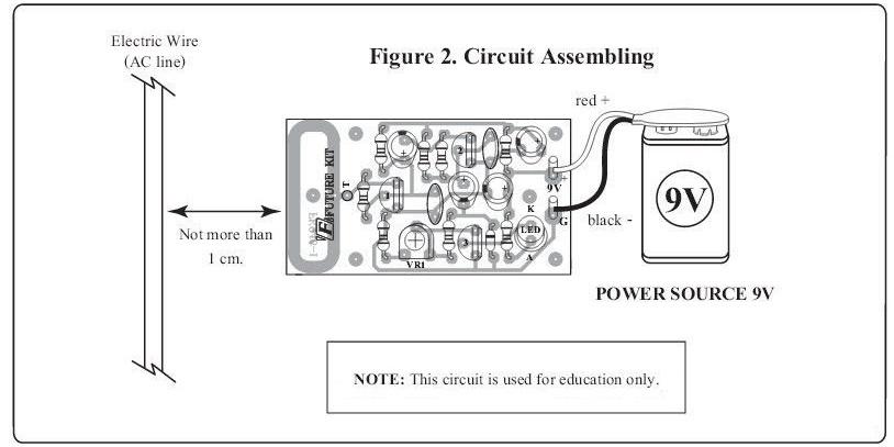 Схема детектора проводки