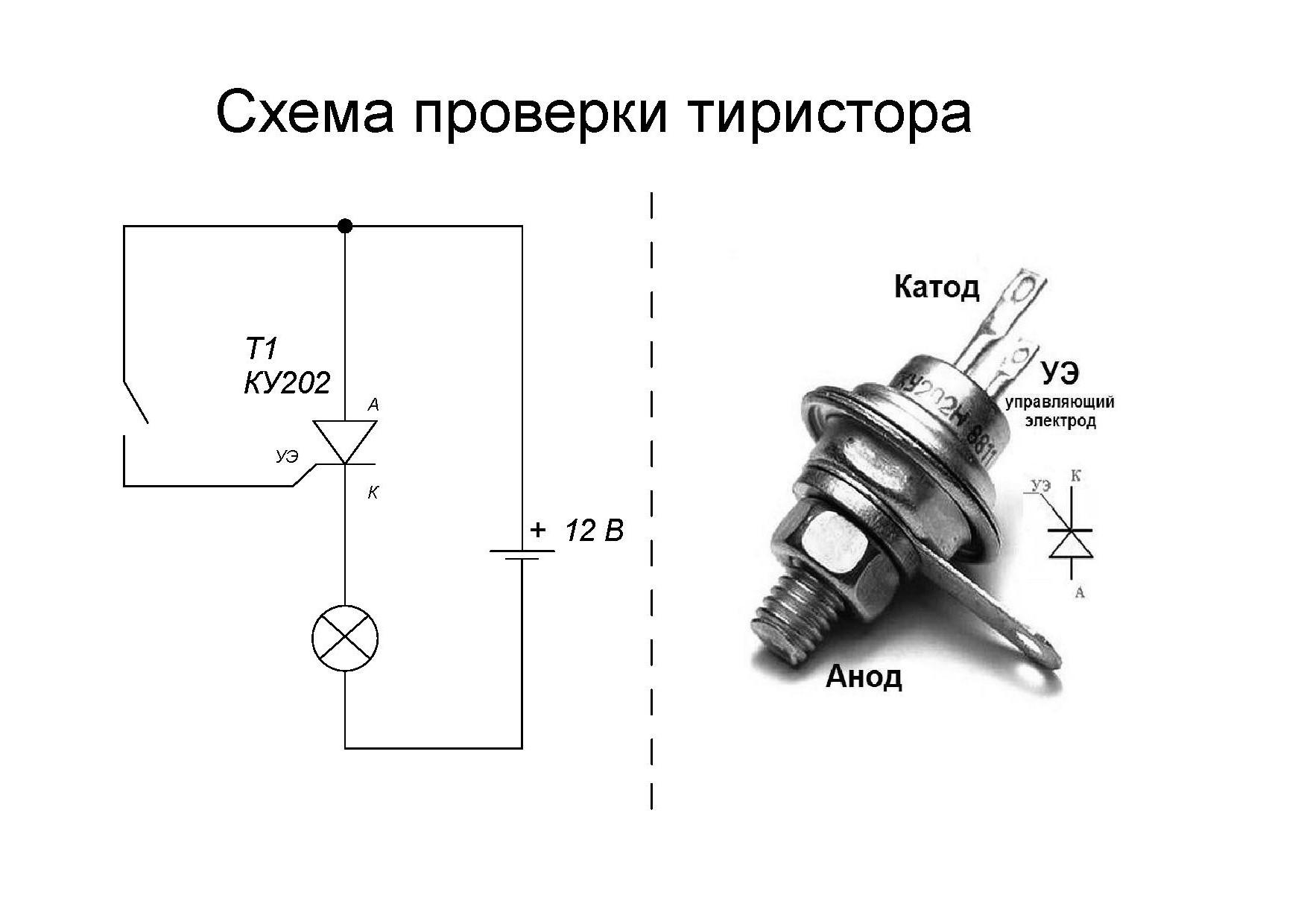 простой регулятор напряжения на тиристоре ку202н