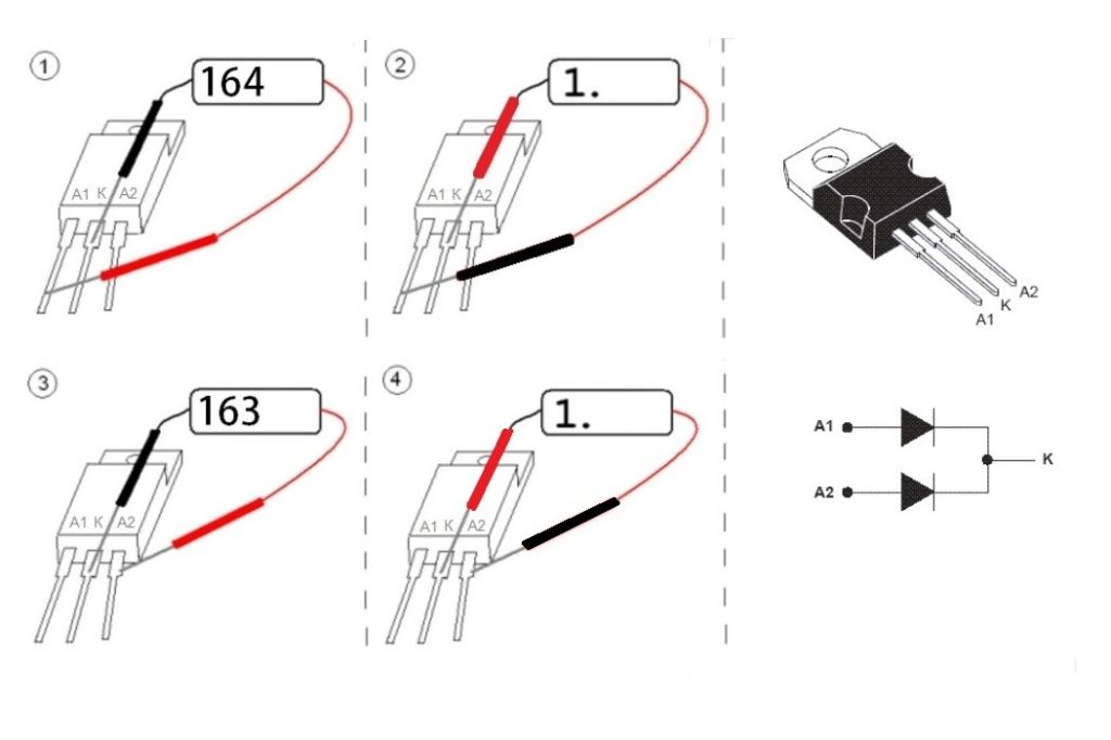 How to test a Schottky diode with a multimeter