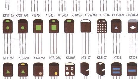 Кодовая и цветовая маркировка транзисторов