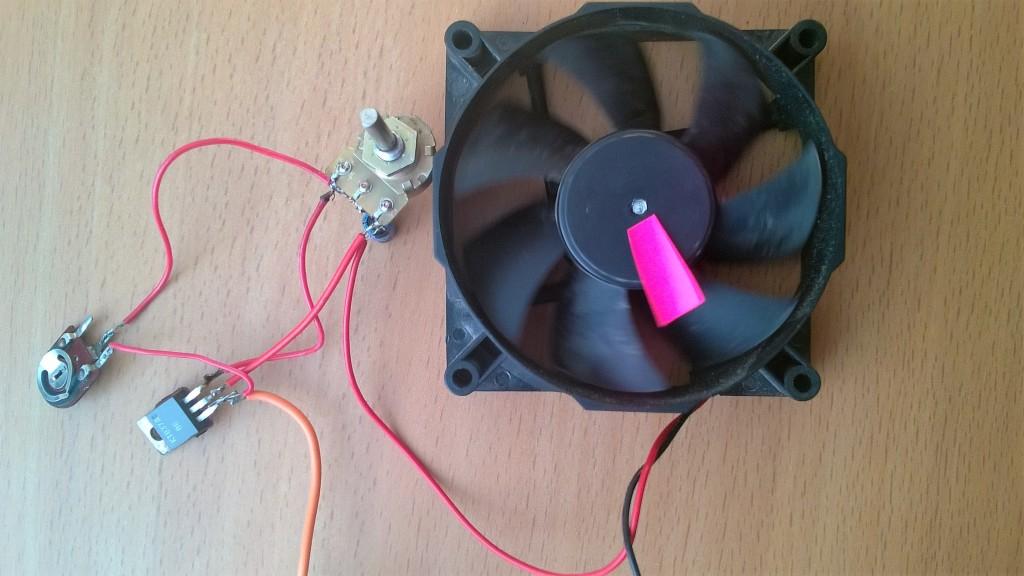 как подключить 12в вентилятор через резистор в сеть