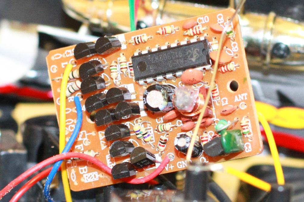 смена частоты радиоуправляемой машинки