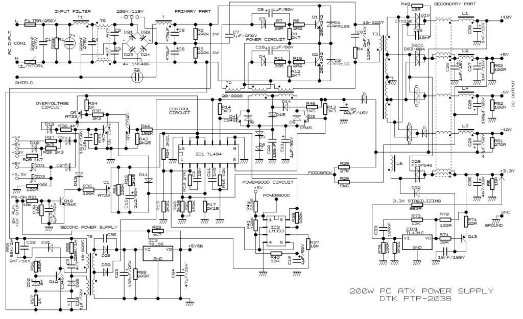 Схема DTK PTP-2038