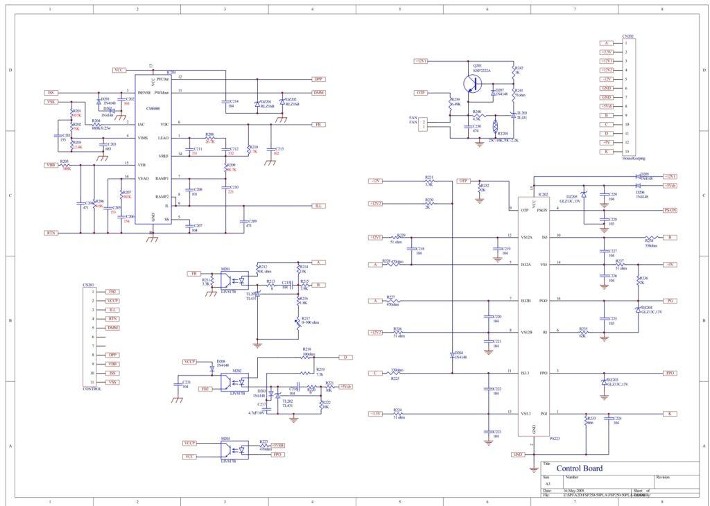 Схема блока питания FSP250-50PLA (FSP500PNR)