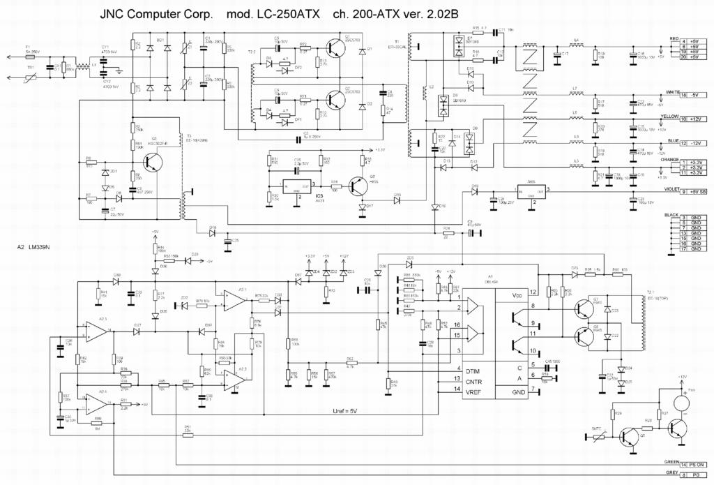Схема JNC LC-250 ATX