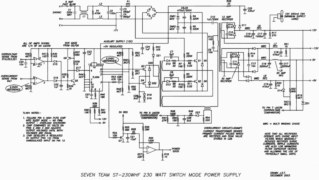 Схема SevenTeam ST-230WHF