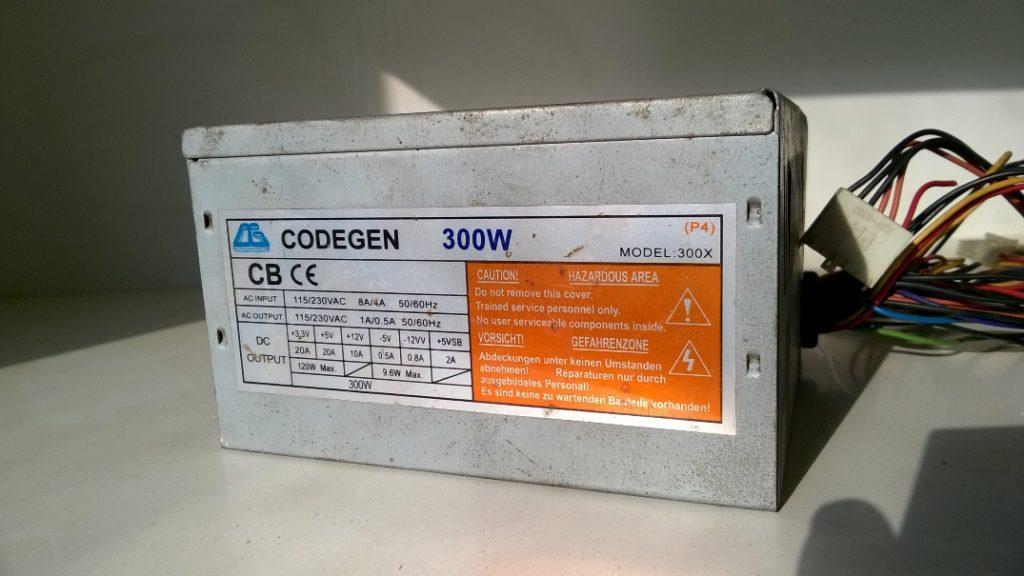 Зарядное из компьютерного блока питания Codegen