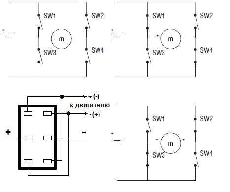 реверс двигателя постоянного тока