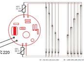 Стенд для проверки ламп дневного света