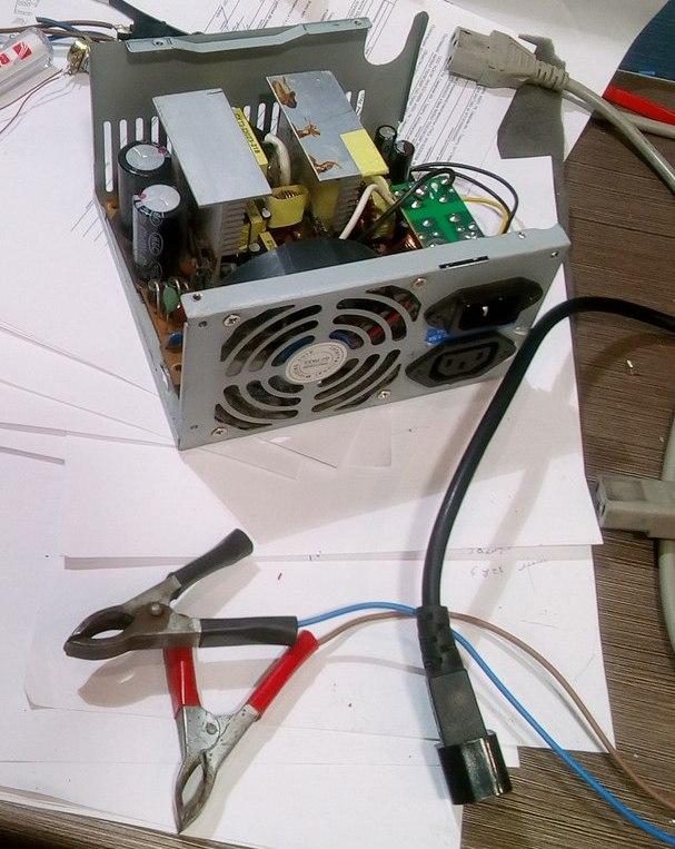 Переделка блока ATX в зарядное устройство Microlab 350w