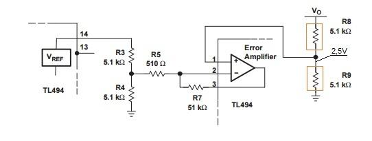 TL494 типовая схема