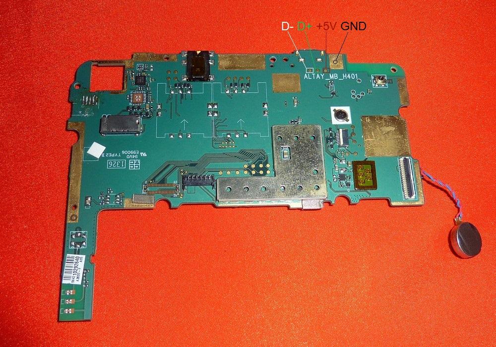 распиновка micro USB Lenovo A3000