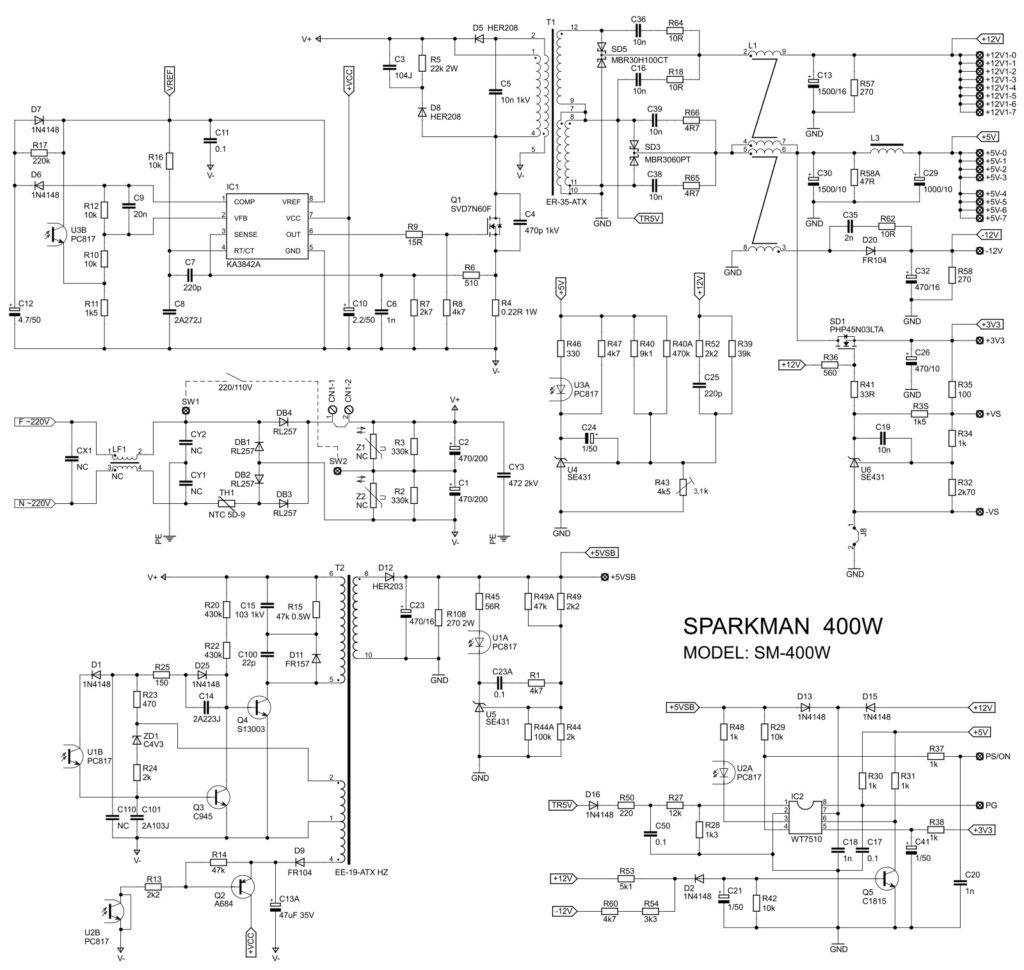 Зарядное из компьютерного блока на ШИМ UC3843
