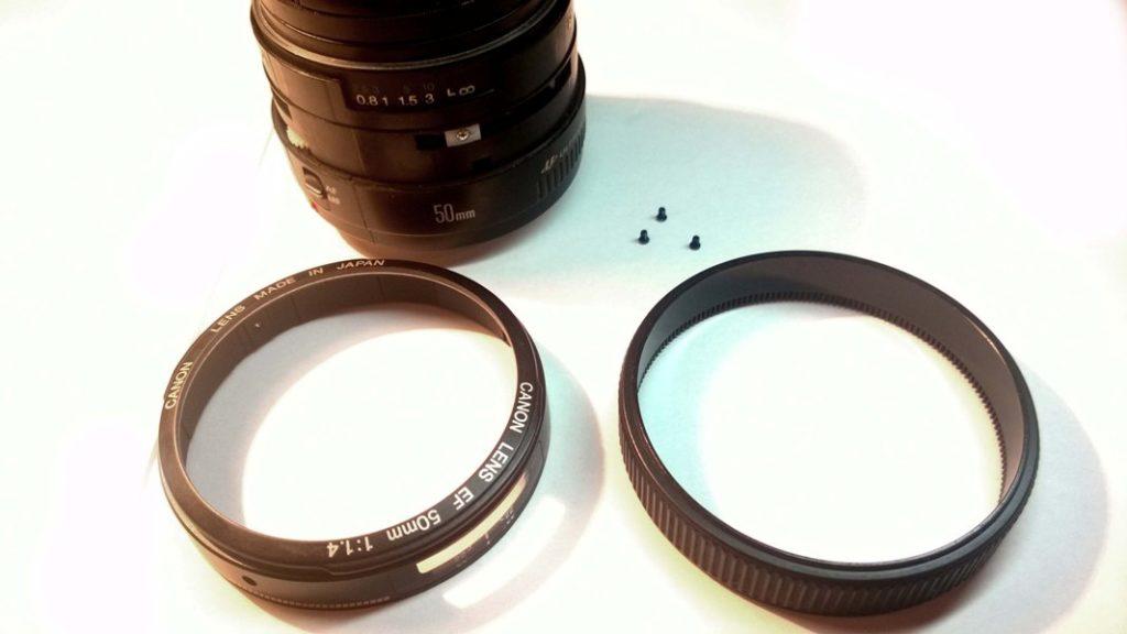 Canon EF 50mm как разобрать