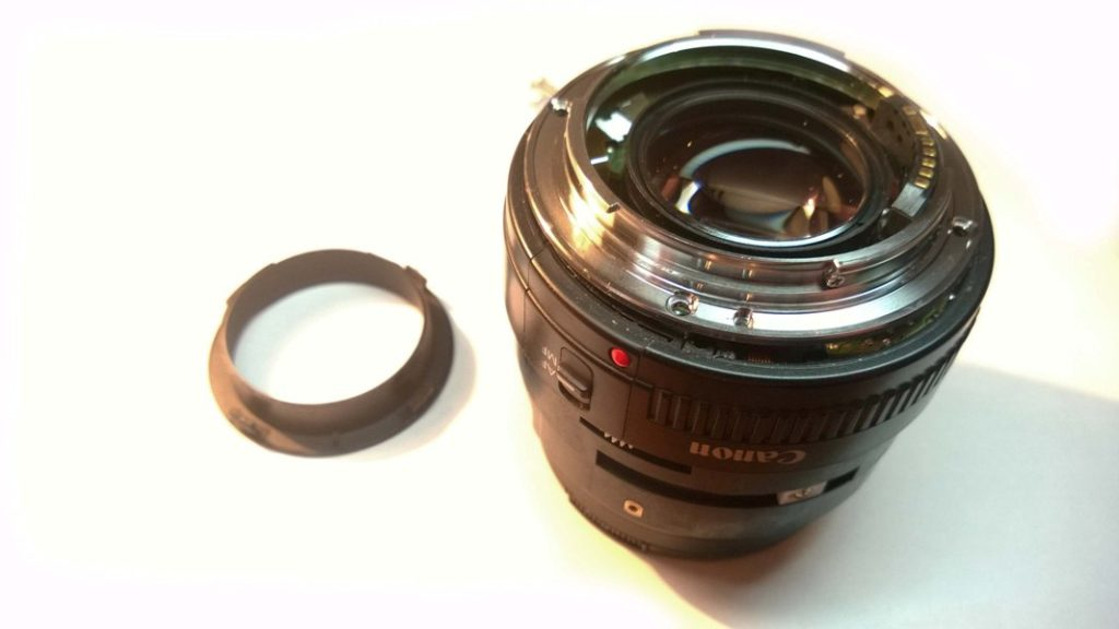 Canon EF 50mm после удара