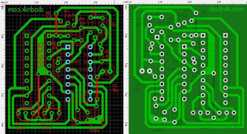 замена SG6105 на TL494 с регулировкой тока