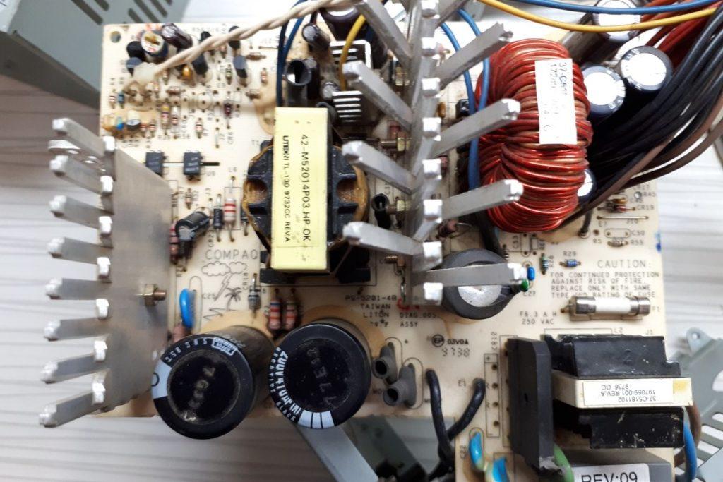 Переделка в зарядное устройство блока питания Compaq PS-5201-4B