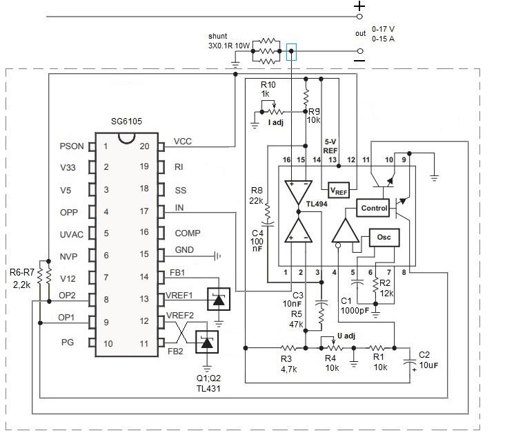 ШИМ SG6105 - переделка в лабораторный